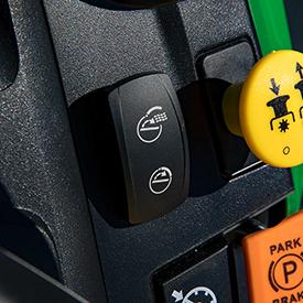 Contacteur MulchControl électrique avec bouton de commande