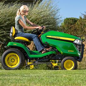 TracteurX394 avec tondeuse AccelDeep48A