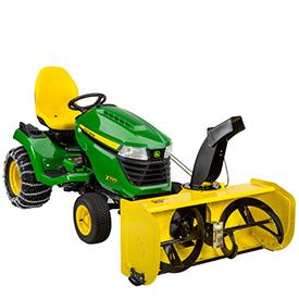 Tracteur X590 avec souffleuse à neige de 119 cm (47 po)