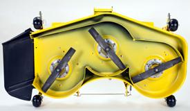 Vue du dessous du corps de tondeuse de grande capacité de 152cm (60po)