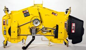 Vue du dessus du corps de tondeuse de grande capacité de 137cm (54po)