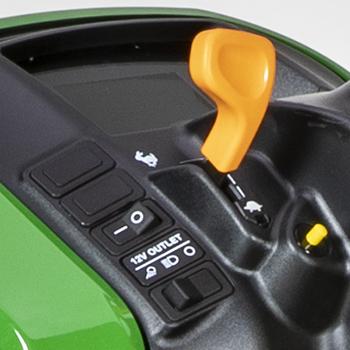 Interrupteur de contrôle d'instrument en marche arrière gauche (bouton jaune)