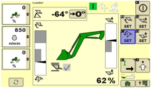 Écran de RTP sur l'afficheur CommandCenter