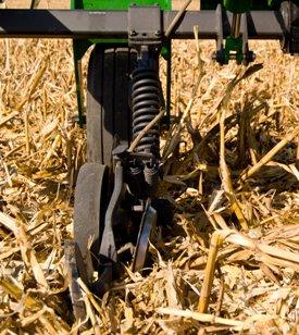 Application à l'automne d'anhydre dans du chaume de maïs
