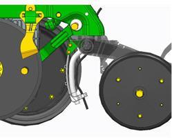 Le guide de tuyau souple est un matériau flexible de couleur noire (de couleur blanche dans l'illustration).
