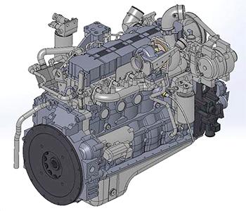 Moteur diesel de catégorie 3