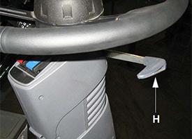 Console avant - Réglage télescopique