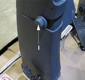 Console avant - Réglage d'inclinaison