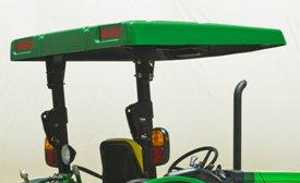 Abri solaire standard monté sur le cadre de sécurité de la série 5M