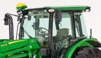 Tracteur5R avec système de guidage AutoTrac