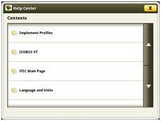 Page principale du centre d'assistance