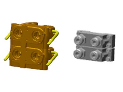 Coupleur et adaptateur BRE10486 de 1,9cm (¾po) (deux colis empilés illustrés)