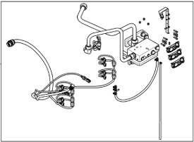 Colis de distributeur auxiliaire pour circuit hydraulique haut-débit