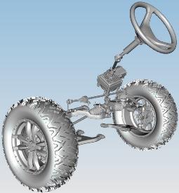 Direction à crémaillère et à pignon de type automobile avec servodirection en option