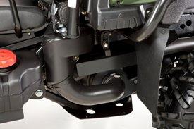 Vue latérale de l'admission de la transmission variable continue et de l'embrayage à la fermeture (véhicule utilitaireXUV855D)
