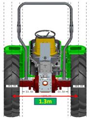1.3 米轮距
