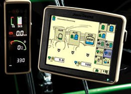 Stationärer HarvestLab™-Sensor mit Analysebildschirm