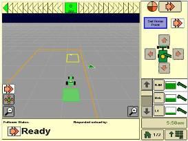 Traktor in Betriebszone