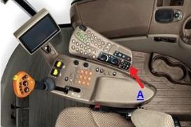 Bequeme Anordnung der Radio-Bedienelemente in der Armlehne