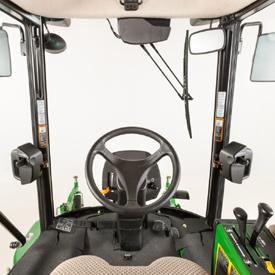 Sicht aus der Komfortkabine vom Fahrersitz