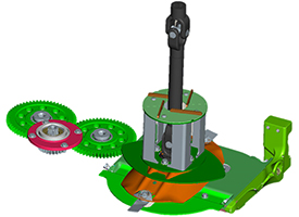 Modulare Konstruktion des Messerbalkens