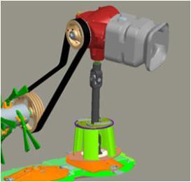 Kraftübertragung vom Getriebe zu einzelnen Komponenten