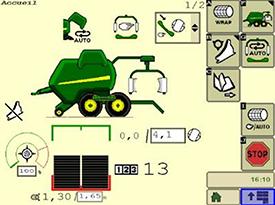 Hauptseite mit einfachen, deutlichen Symbolen