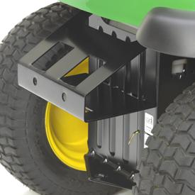 Halter am Heck für Schnellanbau-Gewichte (BG20022 abgebildet)