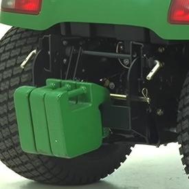 Halter für Schnellanbau-Gewichte mit optionalen Gewichten abgebildet