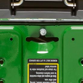 Schraube und Handgriff zum Entfernen der Fußstütze (Z335E abgebildet)