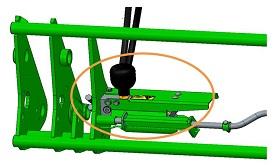 Gasdruckspeicher zur Betätigung der hydraulischen Entriegelung (HIU)