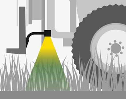 Der Hybridmodus bietet sowohl die Vorzüge des Erntegutmodus als auch jene des Bodenmodus