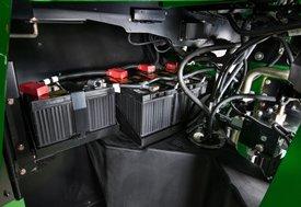Einbauort der Batterie auf dem 9R