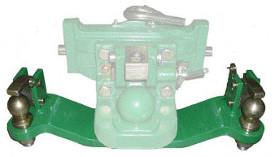 Zwangslenkungssystem, beide Seiten, für höhenverstellbare Kugelkopfanhängekupplung