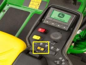 El operador selecciona extender la unidad izquierda o derecha para realizar el remate