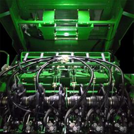 Iluminación LED sobre las turbinas y el anudador