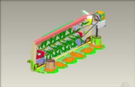 Bastidor de la plataforma soportando diversos elementos funcionales