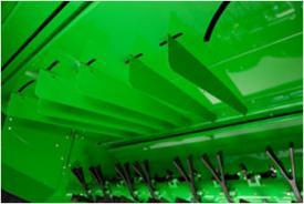 Deflectores de distribución anchos fácilmente desmontables y ajustables