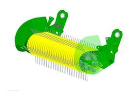Cilindro de transición de gran diámetro y barras de cinco dientes