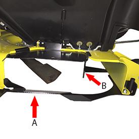 Protección con la rampa deslizante y el deflector delantero instalados