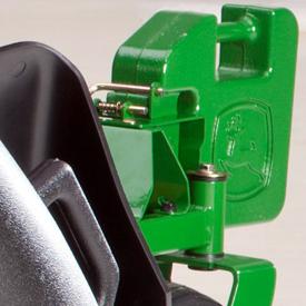 Contrapeso Quik-Tatch instalado en el juego de soporte para lastre