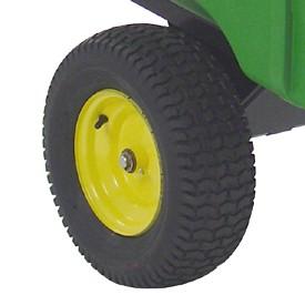 Imagen de una rueda del remolque 17P