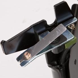 Interruptor de bloqueo instalado en el recogedor