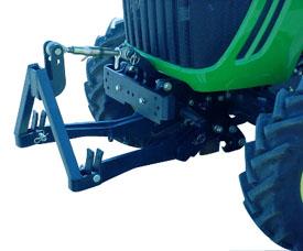 Enganche delantero de 3 puntos con adaptador de bastidor en A (se muestra un tractor serie 3020)