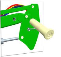 Puntos de engrase integrados en el bulón de articulación
