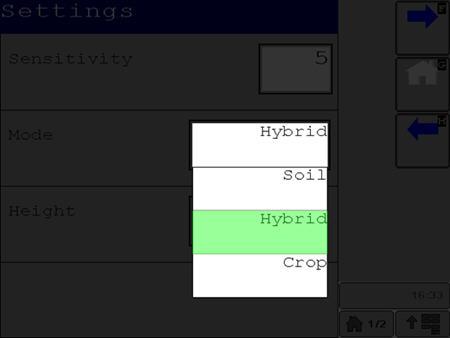 Hay tres modos de funcionamiento disponibles: suelo, cultivo e híbrido