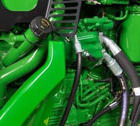 Ubicación de la mirilla de nivel de aceite motor/boca de llenado