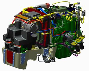 Potente y compacto motor Fase IIIB en los tractores 5GL