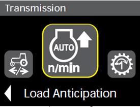 Los ajustes de anticipación de carga se hacen desde el monitor del poste derecho