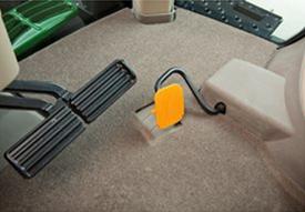 Imagen de alfombrilla con pedal acelerador